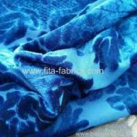Quality 100% polyester burn out velvet fabric for sale