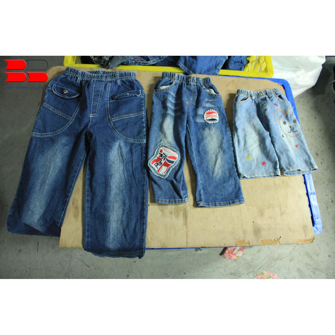 China Children Used Jeans Pants on sale