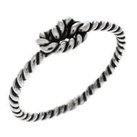 Quality Rings Sterling Silver Love Knot Oxidized Ring for sale