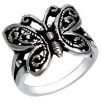 Buy cheap Rings Sterling Silver Butterfly Oxidized Ring from wholesalers