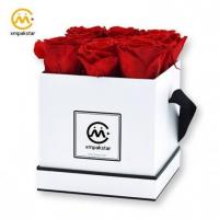 China Wholesale high quality custom square paper flower bouquet boxes on sale