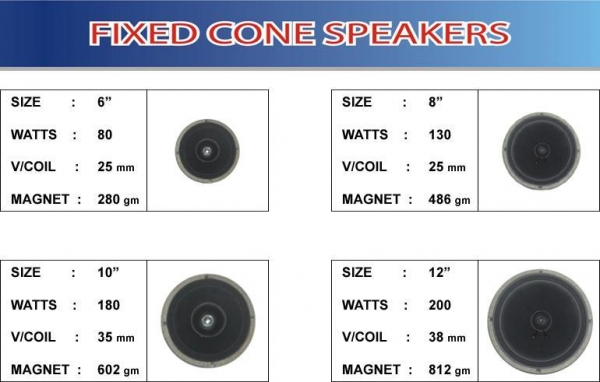 Buy speakers series Fixed Cone Speakers at wholesale prices