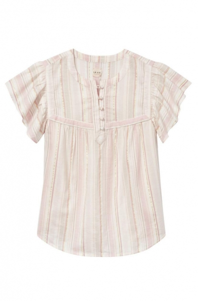 Buy Striped Short Sleeve Top at wholesale prices