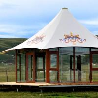 Quality Aluminum frame commercial glamping tents from factory Guangzhou for sale