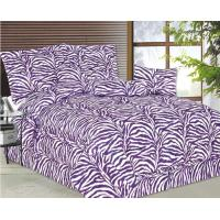 Buy cheap Comforter set purple zebre from wholesalers