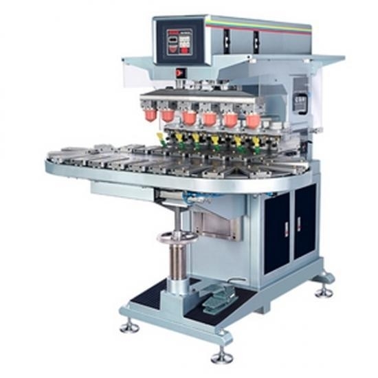Buy automatic ink cup conveyor 6-color pad printer at wholesale prices