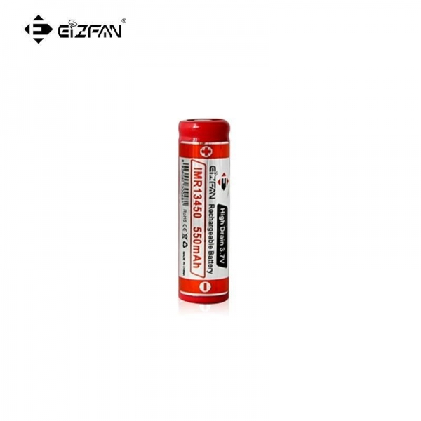 China EFAN IMR 13450 550mah 3.7v LiMn battery with Button top