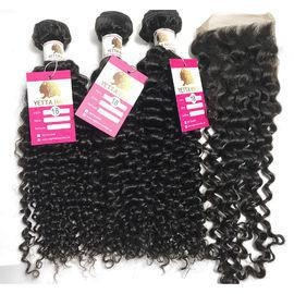China The Best Virgin Peruvian Hair Natural Curly Extensions Human Hair Weave with Closure #96746