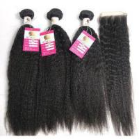 Quality 100% Unprocessed Virgin Human Hair Kinky Straight Black Women Human Hair Extensions #96944 for sale