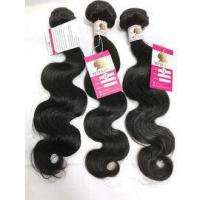 Quality Top Quality Peruvian Virgin Human Hair Body Wave Wet and wavy Hair Natural Black 3bundles #96292 for sale