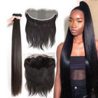 Quality Peruvian Virgin Remy Human Hair 40 inch Hair Extensions Silky Straight Can be Bleached #69281 for sale