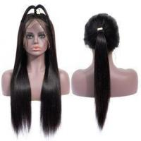 Quality Quality Virgin Peruvian Hair Straight Glueless Pre Plucked Full Lace Human Hair Wigs/13x6 for sale