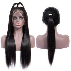China Quality Virgin Peruvian Hair Straight Glueless Pre Plucked Full Lace Human Hair Wigs/13x6