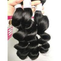 Quality Top Quality Peruvian Loose Wave Virgin Hair Glam Hair Extensions No Shedding #96402 for sale