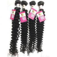 Quality Peruvian Deep Wave Hair 100% Virgin Human Hair Weave for Black Women Dyeable #96503 for sale