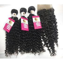 China 100% Unprocessed Virgin Peruvian Hair Natural Curly Hair Extensions with Lace Frontal #97202