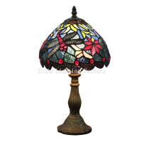 China TL080017-dragonfly tiffany table lamp resin lamp base on sale