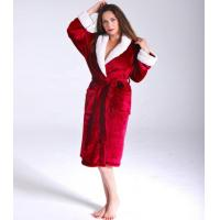 China Womens Flannel Robe on sale