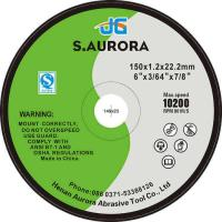 Buy cheap Customized 6 Inches Aluminum Oxide Abrasive Metal Flat Abrasive Cutting Disc from wholesalers