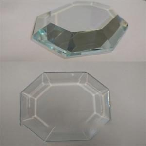 China Wholesale Clear Bevel Edge Glass Square /Circular Plates