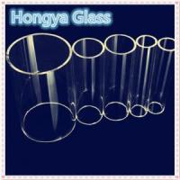 Quality 100-400mm OD large size clear durable borosilicate glass tube for sale