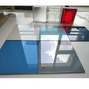 China Table Top Window Building Wall 6 MM 3300*2140 Ford Blue Tinted Float Glass