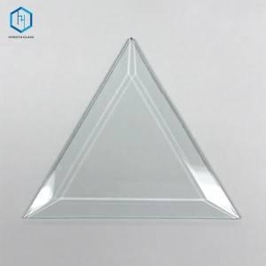 China Triangle bevelled glass pieces
