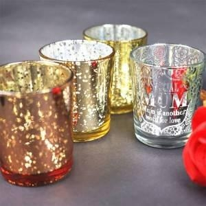 China Decorative Votive Tealight Glass Candle Holders for Weddings, Parties and Home Decoration