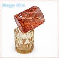 Buy cheap custom luxury fancy decorative glass candle holder from wholesalers