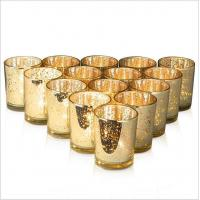Quality 7oz Mercury Glass Votive Tealight Candle Holders for Weddings, Parties and Home Decor for sale