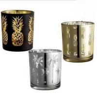 Quality Wholesale Round Mercury Glass Votive Candle Holders for Weddings and Home Decor for sale