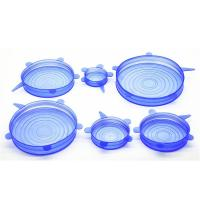 Quality SRK#500 Food grade 6 pack fresh-keeping Cover silicone stretch lids set for sale