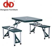 China DN Portable Lightweight Folding Suitcase Picnic Table W/4 Built-In Chairs With Strong Capacity on sale