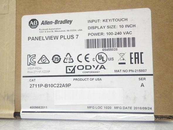China 2711P-B10C22A9P Allen Bradley PanelView Plus 7 Graphic Terminal Brand new Fast delivery