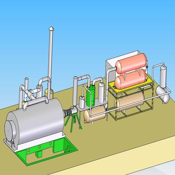 China 10T Waste Tyre Pyrolysis Plant