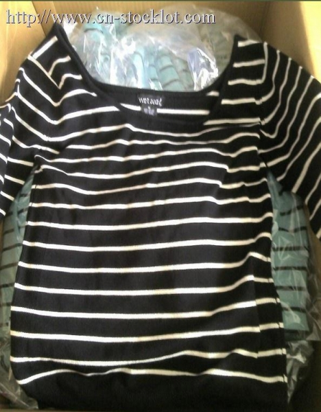 Buy QTD0909-8 Wet seal stripe knitting tops at wholesale prices