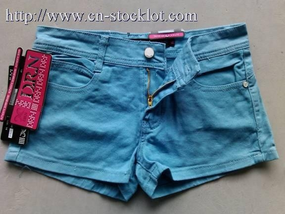 Buy 2Q-1014-2 denim hot pants overstock jeans at wholesale prices