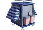 China Double Side Emergency Medication Trolley Reliable With Four Aluminum Columns