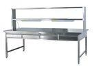 China Durable Stainless Steel Medical Table With Light For Packing Sterilized Surgical Instrument