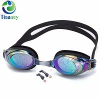 China Professional Silicone Coloured Mirror Lenses Waterproof Anti Fog UV Protection Triathlon Swim on sale