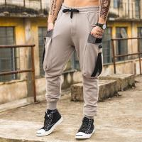 Buy cheap Custom Cotton Blend Elastic Waist Blank Mens Baggy Tapered Drawstring Jogger Pants from wholesalers