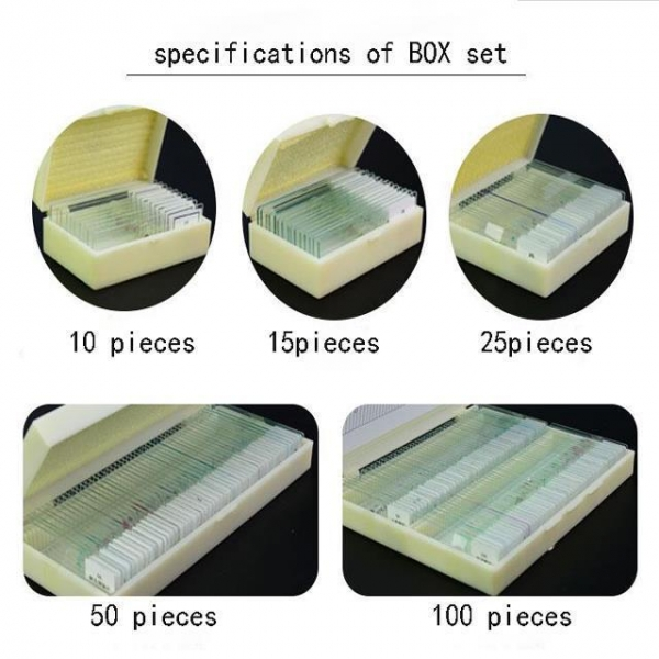 China 50pcs Prepared Glass Microscope Slides Set For Student Science Research