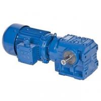Quality S series helical worm geared motor for sale
