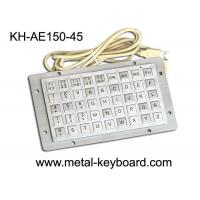 Quality IP65 Rated Anti Vandal Industrial Computer Keyboard with 45 Keys Function Keypad for sale