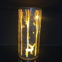 Buy cheap Laser cutting forest and reindeer patterns + ice flower painting. from wholesalers